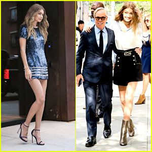 Gigi Hadid & Tommy Hilfiger Promote 'TommyxGigi' Fashion Collection Together