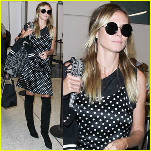 Heidi Klum Keeps it Classy on Her Romantic Flight Out of LAX