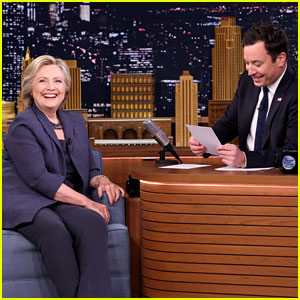 Jimmy Fallon Welcomes Hillary Clinton with Surgical Mask & Hand Sanitizer - Watch Now!