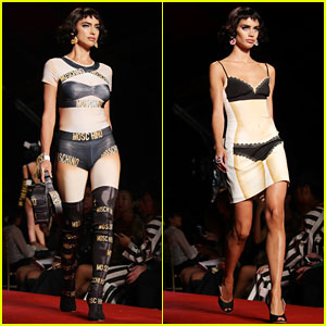 Irina Shayk & Sara Sampaio Walk Runway for Moschino!