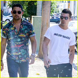 Joe Jonas & Wilmer Valderrama Meet Up for Lunch in WeHo