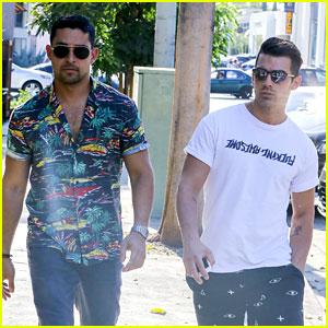 Joe Jonas & Wilmer Valderrama Meet Up for Lunch in WeHo