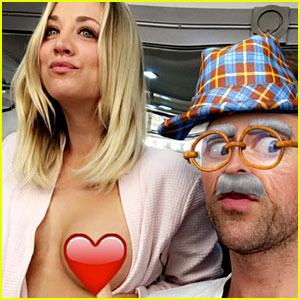 Kaley Cuoco Bares Her Breast on Snapchat