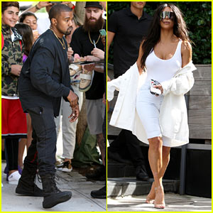 Kanye West & Kim Kardashian Step Out for a Lunch Date in NYC!