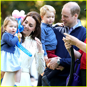 Kate Middleton & Prince William Get Balloon Animals Made with George & Charlotte!