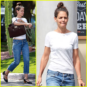 Katie Holmes Enjoys the Sunny California Weather