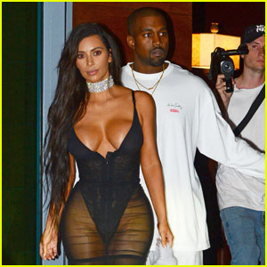 Kim Kardashian Shows Major Skin in Sexy Sheer Dress