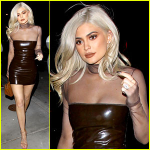 Kylie Jenner Rocks Skin-Tight Dress for Dinner at Craig's