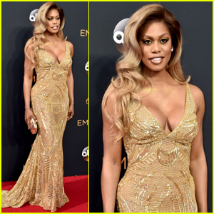 Laverne Cox Looks Gorgeous in Gold at Emmy Awards 2016