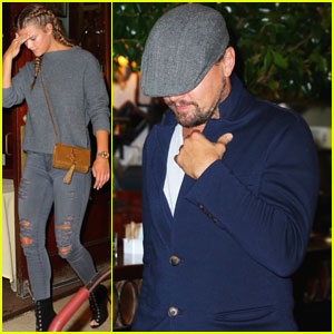 Leonardo DiCaprio & Nina Agdal Grab Low-Key Meal at Cipriani