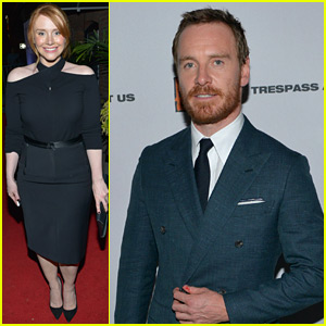 Michael Fassbender & Bryce Dallas Howard Attend the Premiere of 'Trespass Against Us' in Toronto!