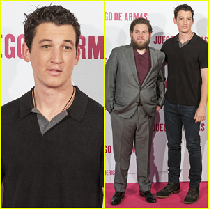 Miles Teller Brings His Normal Hair To Madrid For 'War Dogs'!