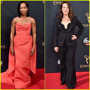 Regina King & Lili Taylor Step Out at Emmy Awards 2016