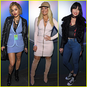 Rita Ora & Bebe Rexha Check Out Britney Spears At Apple Music Festival!
