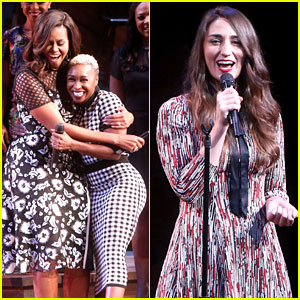 Sara Bareilles & Cynthia Erivo Sing for Michelle Obama at Broadway Event!