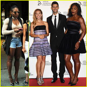 Serena Williams Supports Novak Djokovic Foundation At Milano Gala Dinner!