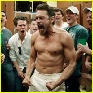Shirtless James Franco Gets Punched in New 'Goat' Hazing Clip