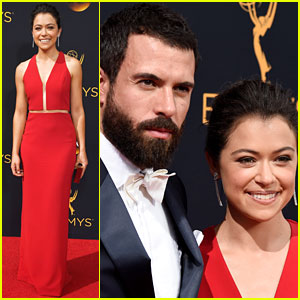 Tatiana Maslany & Boyfriend Tom Cullen Couple Up at Emmys 2016
