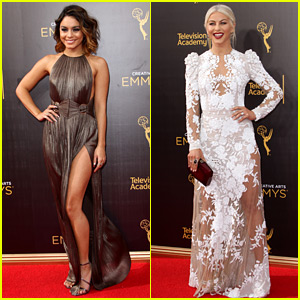 Vanessa Hudgens & Julianne Hough Celebrate 'Grease Live' Wins at Creative Arts Emmys 2016!