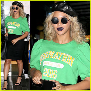 Beyonce Rocks a Bold Lip with Her 'Formation Tour' Crop Top