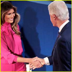 Bill Clinton & Melania Trump Avoid Each Other at Final Presidential Debate, Clintons Fear Another Trump 'Stunt'