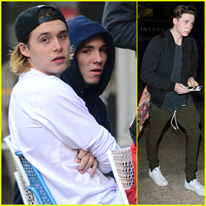 Brooklyn Beckham Hangs With Rocco Ritchie Before Flight to LA