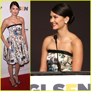 Nina Dobrev Honors Connor Franta at GLSEN Respect Awards 2016 in LA
