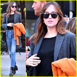 Dakota Johnson Struts Her Stuff in Gucci Boots in SoHo