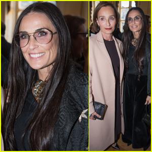 Demi Moore Supports Designer Alber Elbaz During Award Ceremony in Paris