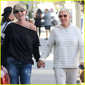Ellen DeGeneres & Portia de Rossi Hold Hands While Shopping