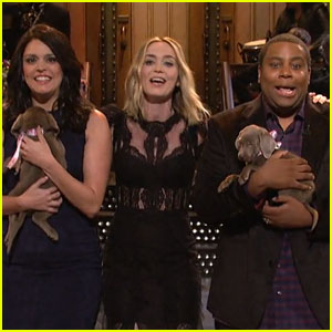 Emily Blunt Hands Out Puppies & Sings in 'SNL' Monologue -Watch!