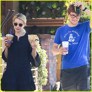 Emma Roberts & Evan Peters Grab Morning Coffees Together