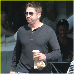 Gerard Butler Grabs an Afternoon Pick-Me-Up