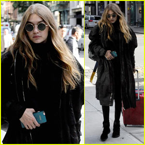 Gigi Hadid Returns to NYC After Enjoying Some Time in Beverly Hills