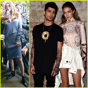 Gigi Hadid Takes a Break From the Runway to Attend Givenchy Presentation With Boyfriend Zayn Malik