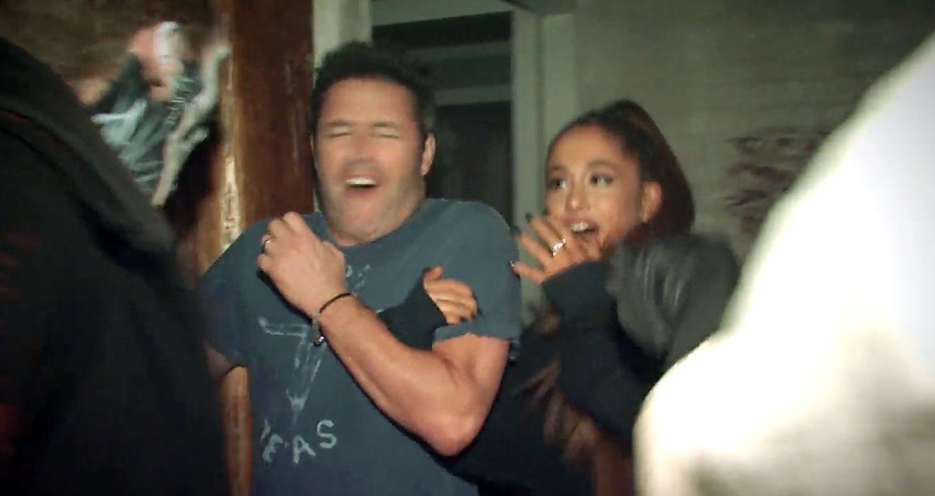 Watch Ariana Grande Walk Through A Haunted House For