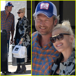 Gwen Stefani & Blake Shelton Enjoy Lunch Date in WeHo!