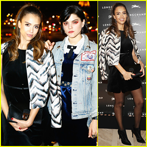 Jessica Alba & Soko Celebrate Longchamp's Maison Saint-Honoré Flagship Grand Re-Opening!
