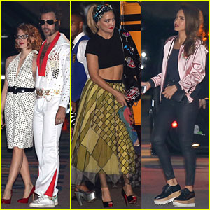 Jessica Chastain, Kate Hudson, & Jessica Alba Go 50s Chic for Katy Perry's Halloween Party