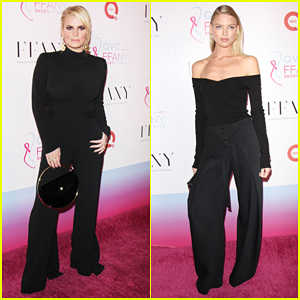 Jessica Simpson Supports Breast Cancer Research At FFANY Shoes On Sale Gala 2016!