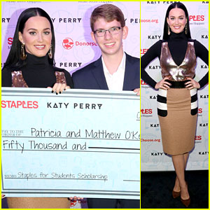 Katy Perry Presents Scholarships at Staples for Students Celebration