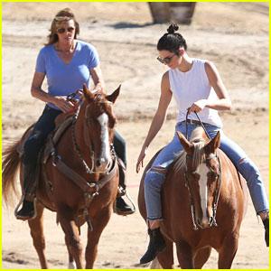 Kendall & Caitlyn Jenner Go Horseback Riding for 'KUWTK' Filming
