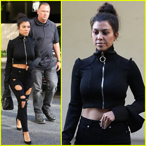 Kourtney Kardashian is Joined by Bodyguard During Outing