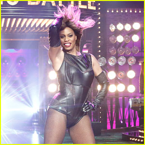 Laverne Cox Raps Nicki Minaj on 'Lip Sync Battle' - Watch Now!