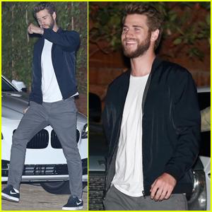 Liam Hemsworth Goofs Around With a Friend in Malibu