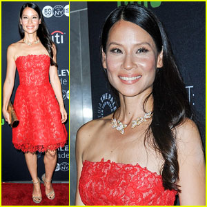 Lucy Liu is Pretty in Pink at 'Elementary' PaleyFest Screening