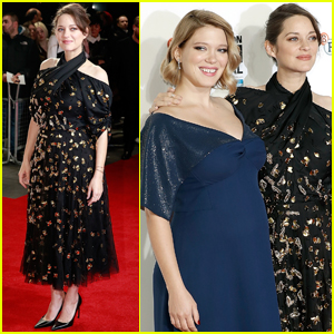 Marion Cotillard & Lea Seydoux Show Off Their Baby Bumps at London Film Fest