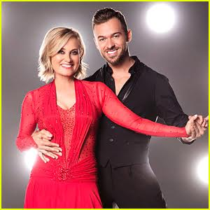 Maureen McCormick Salsas as a Showgirl on DWTS - Watch Now!