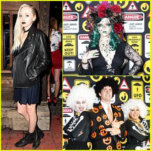 Michelle Trachtenberg & Portia Doubleday Get Into Halloween Spirit at #JJALIENS Party!