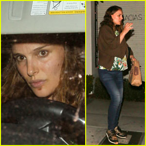 Natalie Portman Shows Off Her Growing Baby Bump at Dinner!